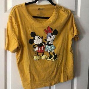 Disney Minnie mickey mouse mustard crop top Xl